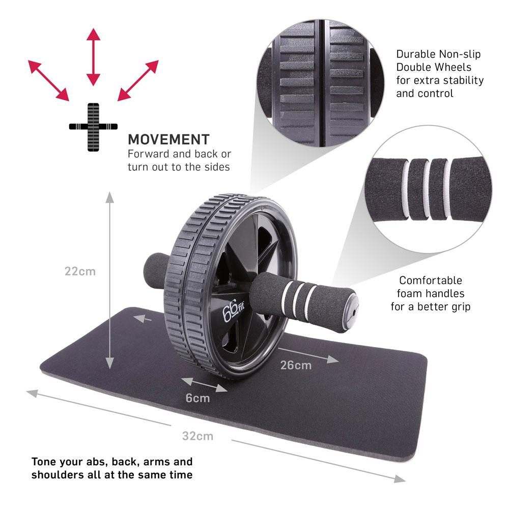 ABS wheel with knee mat
