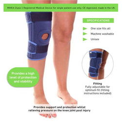 Stabilized Open Knee Brace