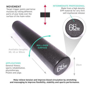 Black Massage Foam Roller