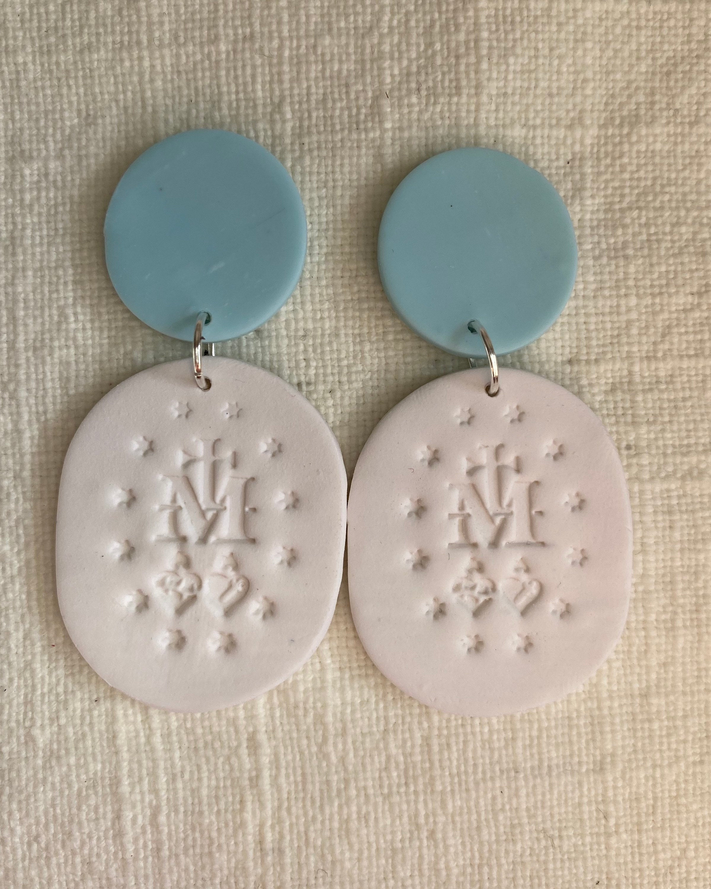 Ave Maria Clay Earrings | Clay Dangle Earrings