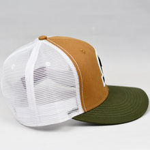 Load image into Gallery viewer, Carhartt & Olive Panama Canvas Slight-Curve Flat-Bill Snap-Back Trucker