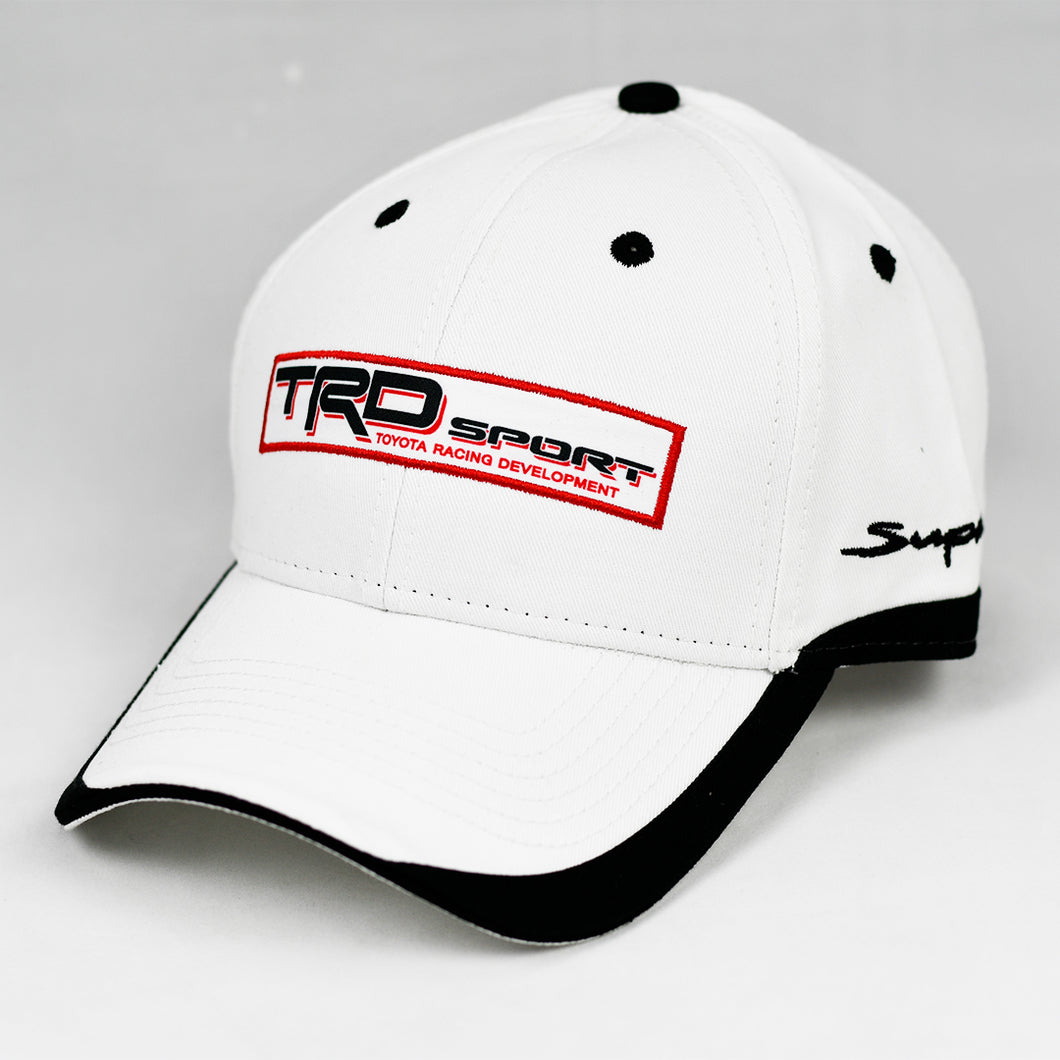 Racing Design 2 White Chino Twill w/ Black Trims Semi-Pro Snap-Back Cap