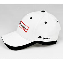 Load image into Gallery viewer, Racing Design 2 White Chino Twill w/ Black Trims Semi-Pro Snap-Back Cap