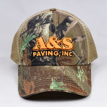 Load image into Gallery viewer, Real Tree & Khaki Semi-Pro Snap-Back Trucker