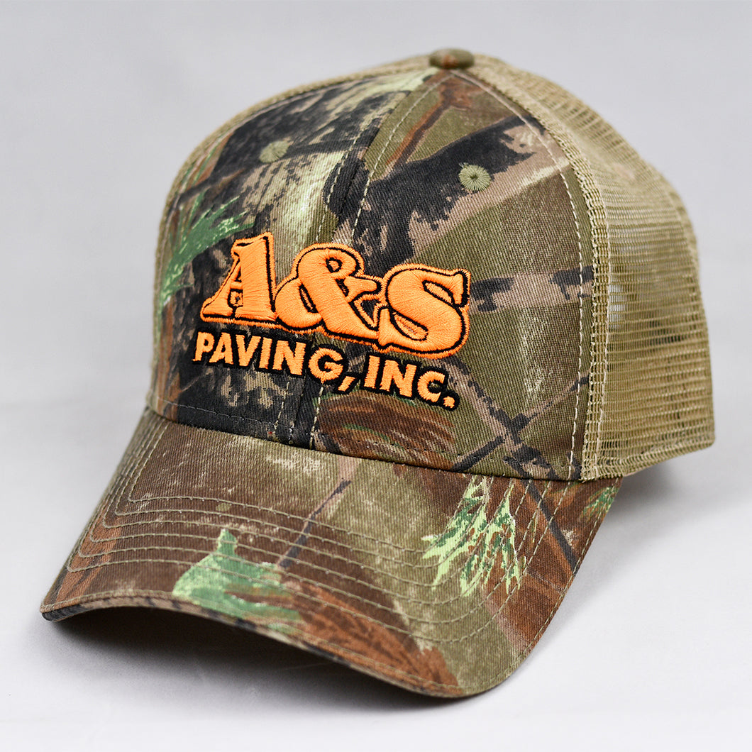 Real Tree & Khaki Semi-Pro Snap-Back Trucker