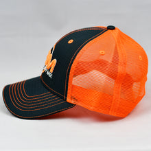 Load image into Gallery viewer, Charcoal & Fluorescent Orange Semi-Pro Snap-Back Trucker