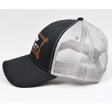 Load image into Gallery viewer, Charcoal & Grey Semi-Pro Snap-Back Trucker