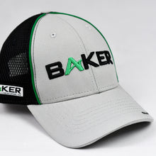Load image into Gallery viewer, Light Grey Canvas & Black Air-Mesh Semi-Pro Trucker