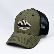 Load image into Gallery viewer, Olive Canvas & Black Semi-Pro Trucker