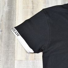 Load image into Gallery viewer, Black - Short Sleeve T-Shirt w/ Large Screen Printed Chest Logo
