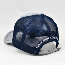 Load image into Gallery viewer, Heather Grey & Navy Semi-Pro Trucker