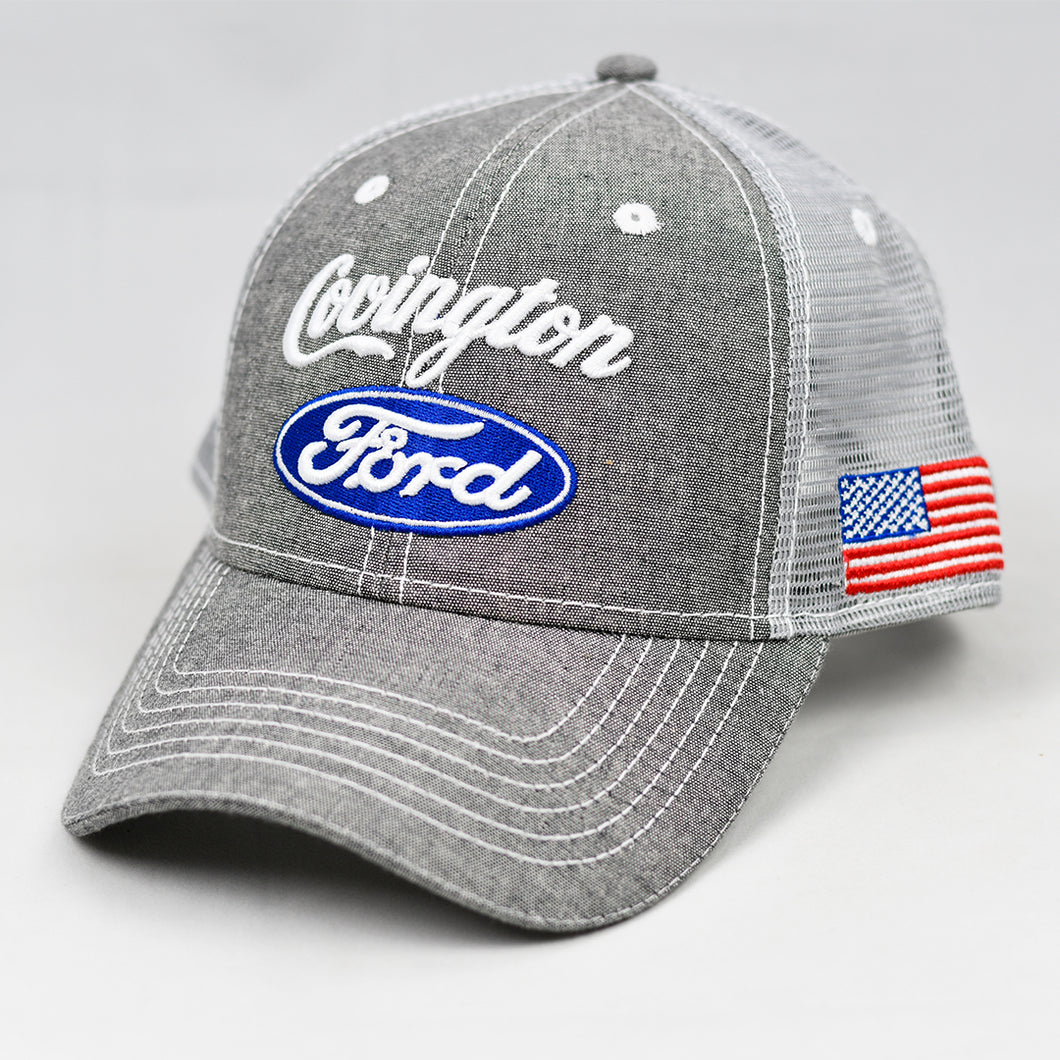Grey Chambray Semi-Pro Snap-Back Trucker