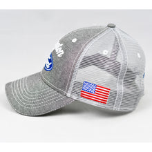 Load image into Gallery viewer, Grey Chambray Semi-Pro Snap-Back Trucker