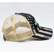 Load image into Gallery viewer, US Flag Desert Digi-Camo & Khaki Semi-Pro Trucker