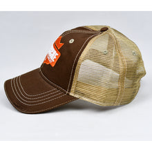 Load image into Gallery viewer, Brown Chino & Khaki Dad-Cap Trucker