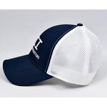 Load image into Gallery viewer, Navy Rip-Stop & White Air-Mesh Semi-Pro Snap-Back Trucker
