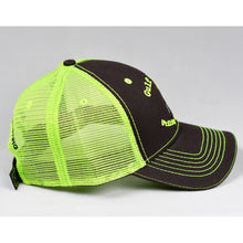 Load image into Gallery viewer, Charcoal & Fluorescent Yellow Semi-Pro Trucker