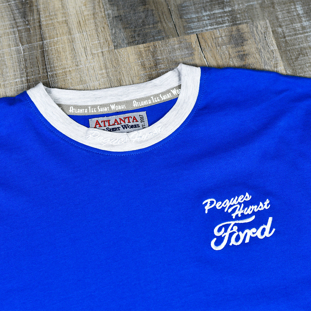 Royal Blue - Short Sleeve T-Shirt w/ Small Embroidered Left Chest Logo