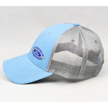 Load image into Gallery viewer, Baby Blue & Grey Semi-Pro Trucker
