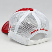 Load image into Gallery viewer, Red Chino Twill & White Semi-Pro Trucker