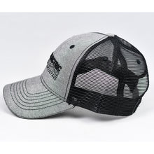 Load image into Gallery viewer, Grey Chambray & Black Semi-Pro Snap-Back Trucker