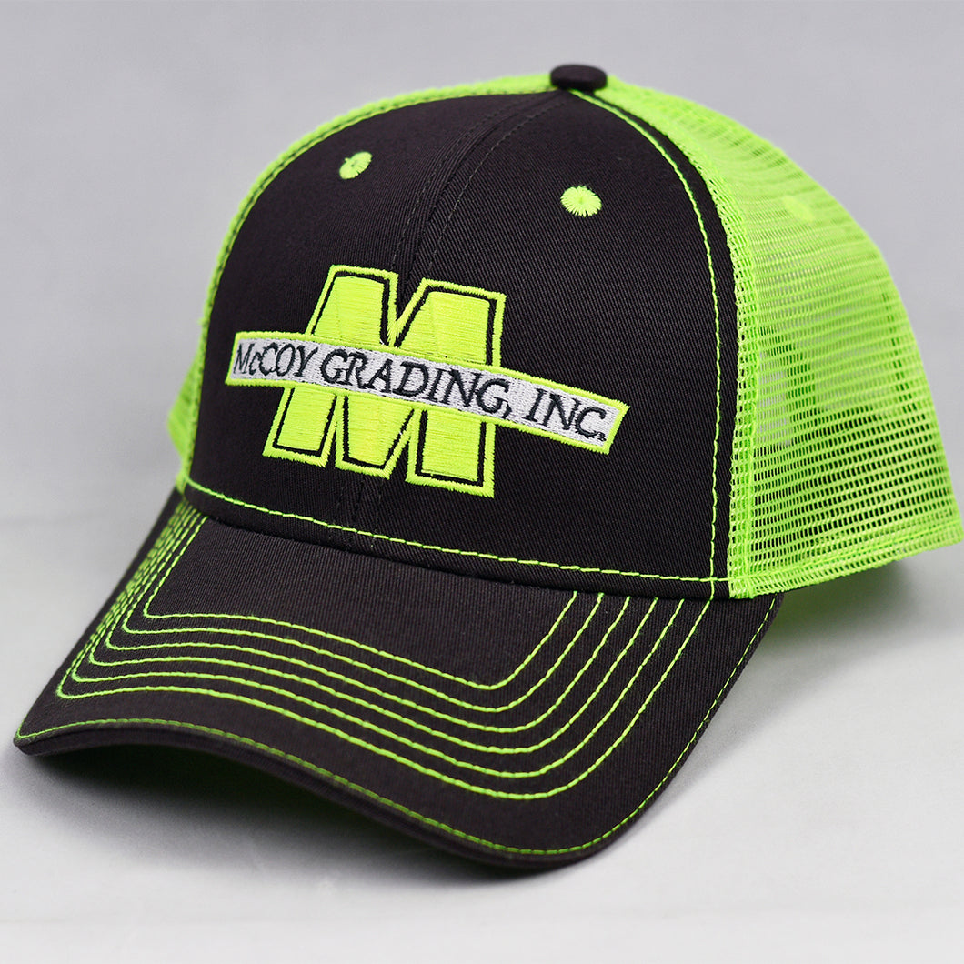 Charcoal & Fluorescent Yellow Semi-Pro Snap-Back Trucker