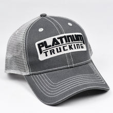 Load image into Gallery viewer, Dark Grey & Grey Snap-Back Dad-Cap Trucker