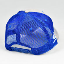 Load image into Gallery viewer, Stone Chino Twill & Royal Blue Semi-Pro Snap-Back Trucker