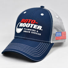 Load image into Gallery viewer, Navy Rip-Stop & Grey Semi-Pro Snap-Back Trucker