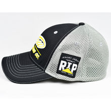 Load image into Gallery viewer, Black Rip-Stop & Grey Air-Mesh Semi-Pro Flex-Fit Trucker