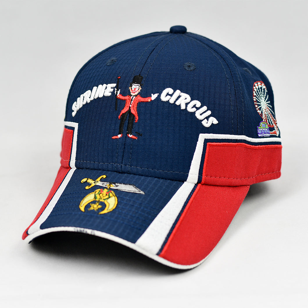 Navy & Red Rip-Stop Sport Design Cap