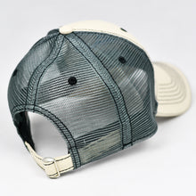 Load image into Gallery viewer, Stone Chino Twill & Charcoal Semi-Pro Buckle-Back Trucker