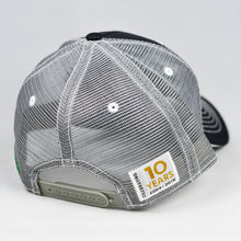 Load image into Gallery viewer, Charcoal Twill & Grey w/ White Trims Semi-Pro Snap-Back Trucker