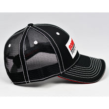 Load image into Gallery viewer, Black Chino Twill w/ Red & White Trims Semi-Pro Trucker