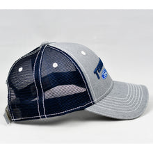 Load image into Gallery viewer, Heather Grey & Navy Semi-Pro Trucker Cap