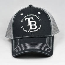 Load image into Gallery viewer, Black Twill & Grey Semi-Pro Snap-Back Trucker