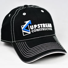 Load image into Gallery viewer, Black Twill w/ White Trims Dad-Cap