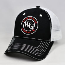 Load image into Gallery viewer, Black & White Semi-Pro Snap-Back Trucker