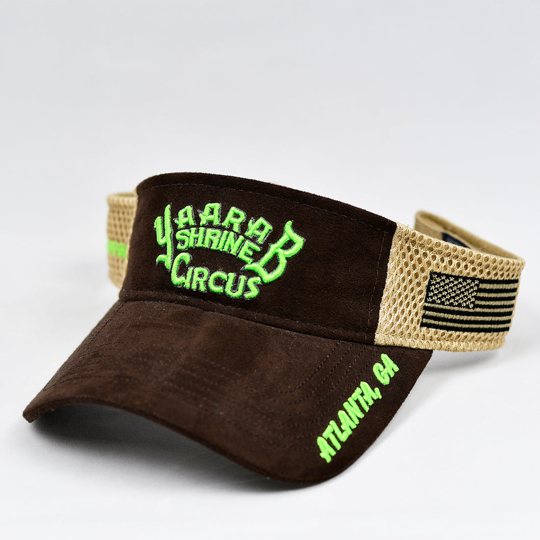Suede Cotton & Khaki Air-Mesh Visor
