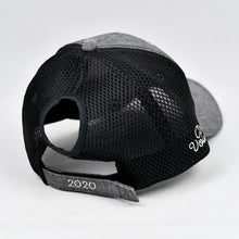 Load image into Gallery viewer, Grey Chambray & Black Air-Mesh Semi-Pro Trucker