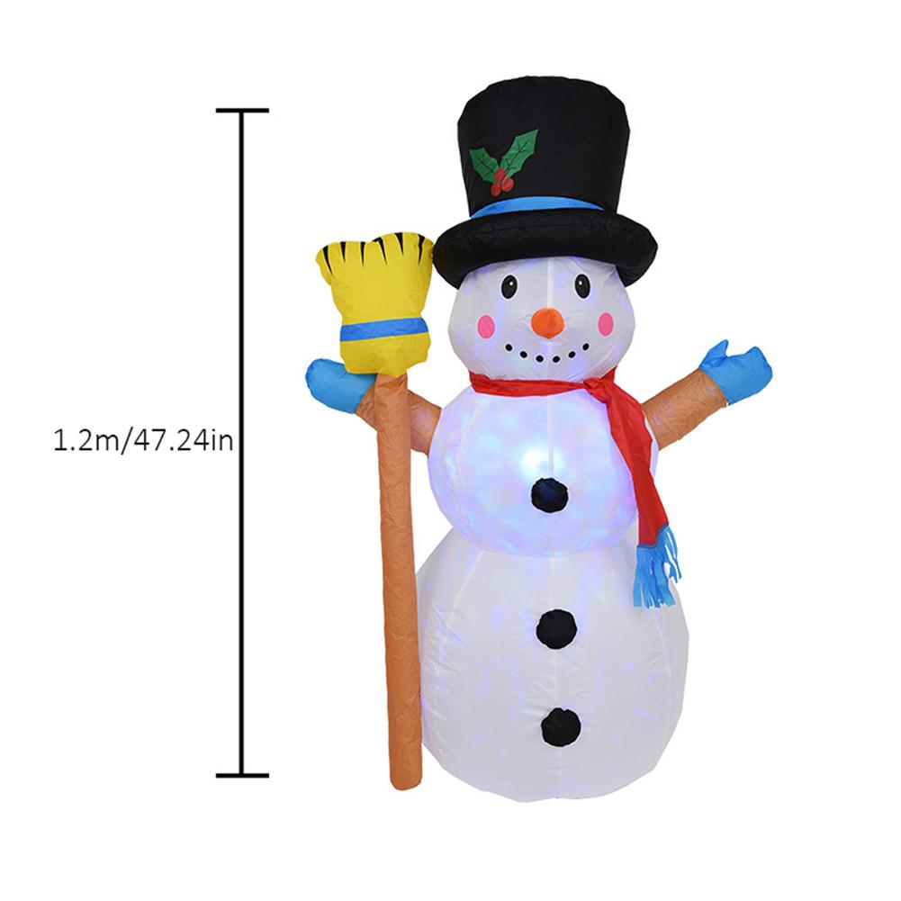 1.2 M Christmas Light Garden Decoration Rotating Inflatable Lamp Lantern Inflatable Christmas Snowman Inflatable For Courtyard D