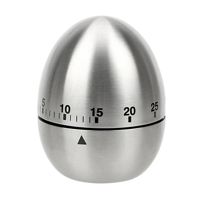 Cooking Tools Kitchen Timer Stainless Steel Egg 60 Minutes Mechanical Alarm Time Clock Counting