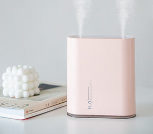 New mini track humidifier USB charging portable air humidifier high capacity household dual jet humidifier