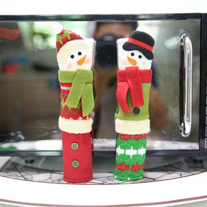 Snowman Kitchen Appliance Handle Covers Christmas Decor Kitchen Tools
