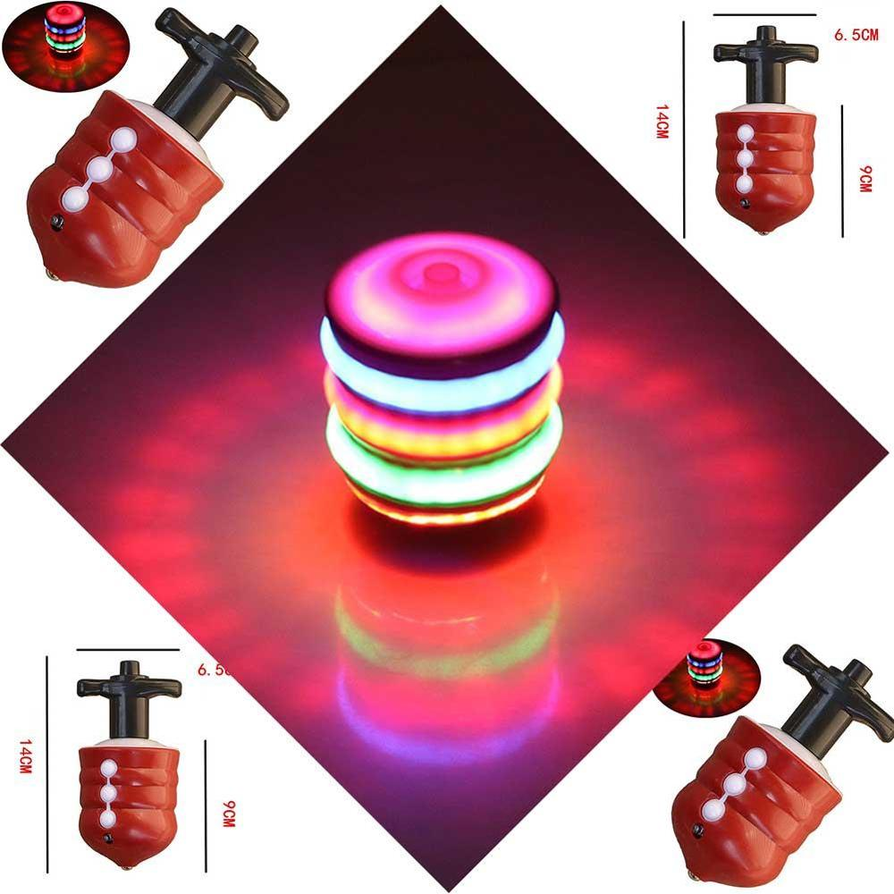 Music Gyro Peg-Top Spinning Top Brinquedo Funny Kids Toy Classic UFO Gyroscope Laser Color Flash LED Light Birthday Gift
