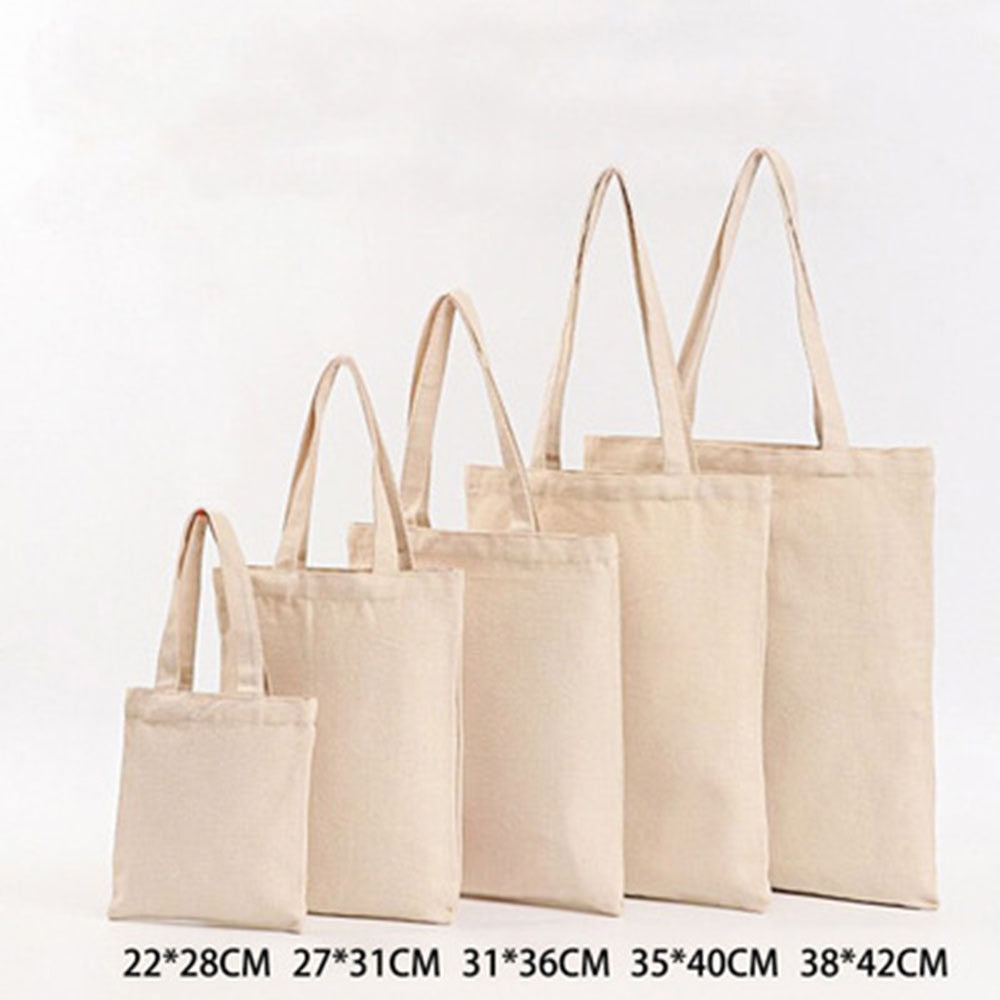 6 Sizes Shopper Tote Canvas Bag Reusable Shopping Bag Eco-friendly Cloth Bags Foldable Pouch Grocery Packages Shoulder Handbag
