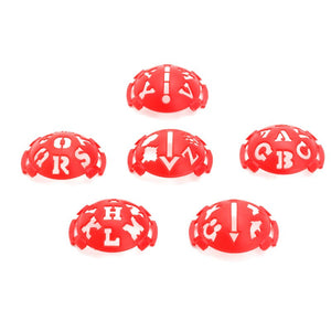 6 in 1 Golf Ball Line Liner Marker Template Drawing Alignment Marks Sign Tool