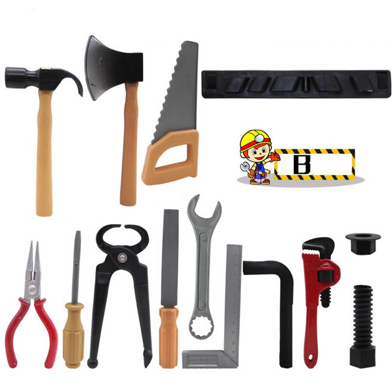 14Pcs/set Simulation Repair Drill Tools Toys For Boys Pretend Play Model DIY Tool Play House Garden Toy Kit Children Gifts