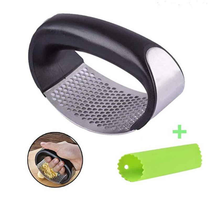 Garlic Press Stainless Steel Garlic chopper Crusher Kitchen Vegetable Garlic Squeezer Masher long handle Mincer Kitchen Gadget