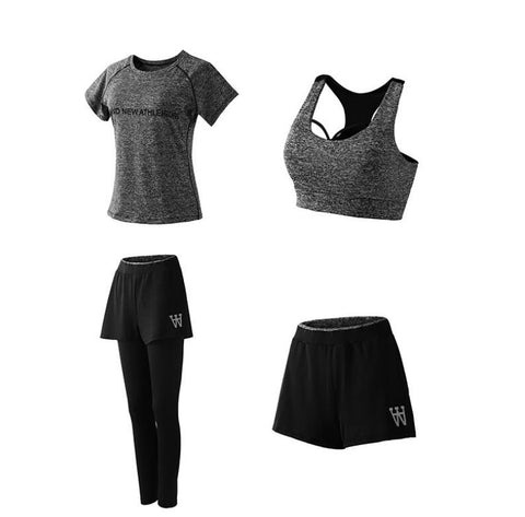 PT Sports Women Yoga Fitness Gym Sports Athletic Wear Running Clothes 4 Pieces Sports Sets/ 5Pieces Sports Sets